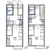1K Apartment to Rent in Narashino-shi Floorplan