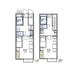 1K Apartment in Tsudanuma - Narashino-shi Floorplan