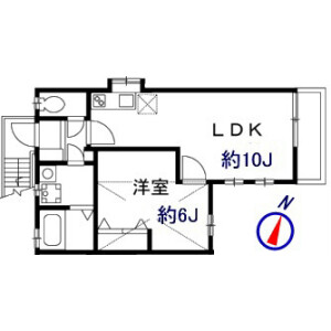 1LDK Apartment in Kamitakaido - Suginami-ku Floorplan