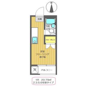 1R Apartment in Mejiro - Toshima-ku Floorplan