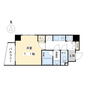 1K Apartment in Nakaogawacho - Kyoto-shi Kamigyo-ku Floorplan