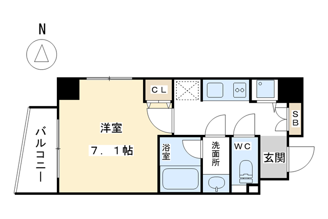 1K Apartment to Buy in Kyoto-shi Kamigyo-ku Floorplan