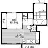 在札幌市丰平区内租赁2K 公寓大厦 的 楼层布局