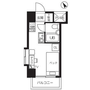 1R Apartment in Minamisengencho - Yokohama-shi Nishi-ku Floorplan