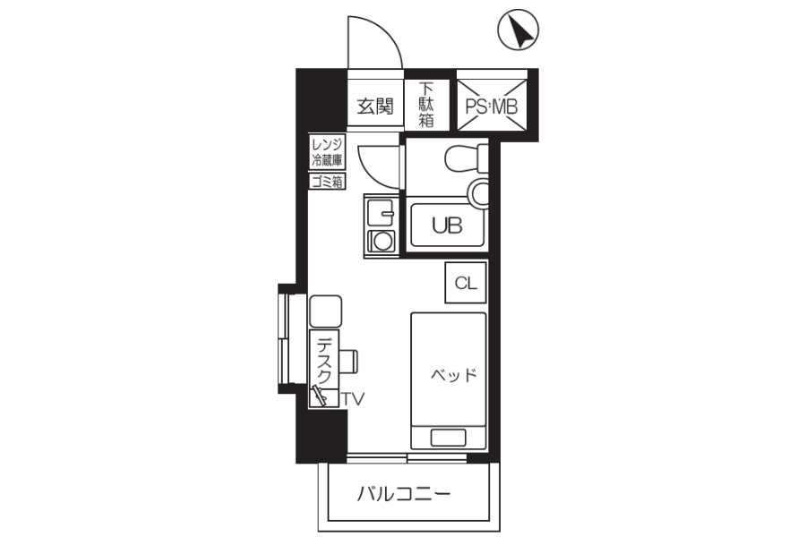 1R Apartment to Rent in Yokohama-shi Nishi-ku Floorplan