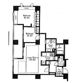 1SLDK Mansion in Ebisunishi - Shibuya-ku Floorplan