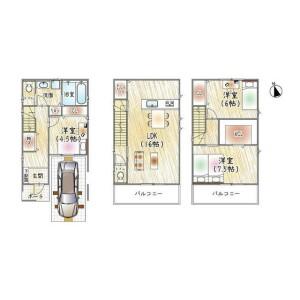 4LDK {building type} in Kurohara tachibanacho - Neyagawa-shi Floorplan
