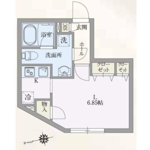 1R Mansion in Shinjuku - Shinjuku-ku Floorplan
