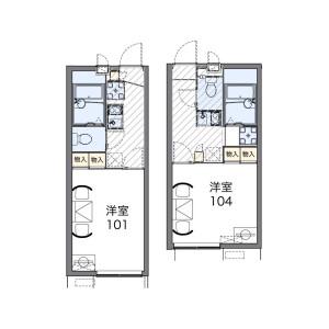 1K Apartment in Nonoshita - Nagareyama-shi Floorplan