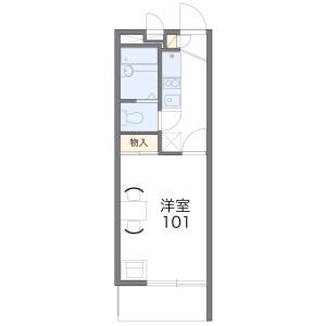 横濱市港北區高田東-1K公寓大廈 房間格局