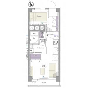 1LDK {building type} in Tsukiji - Chuo-ku Floorplan