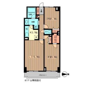 港区白金台-2LDK公寓大厦 楼层布局