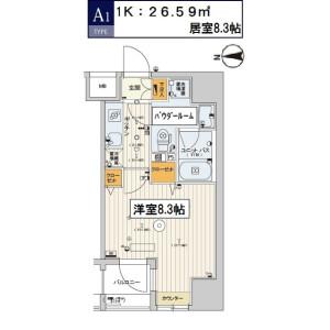1K Mansion in Sengoku - Koto-ku Floorplan