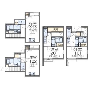 1K Apartment in Nishikojiya - Ota-ku Floorplan