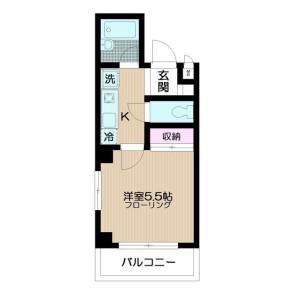 1K Mansion in Kamiitabashi - Itabashi-ku Floorplan