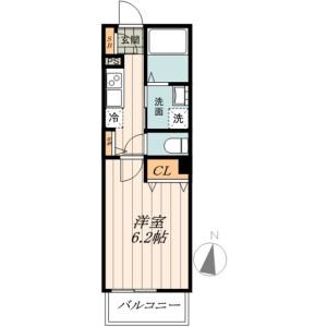 新宿區中井-1K公寓 房間格局