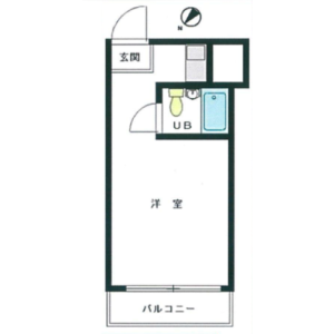 1R {building type} in Akasaka - Minato-ku Floorplan