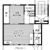 1LDK Apartment to Rent in Komagane-shi Floorplan