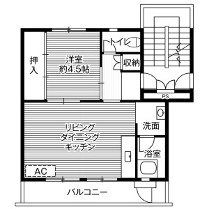 1LDK Mansion in Akaho - Komagane-shi Floorplan