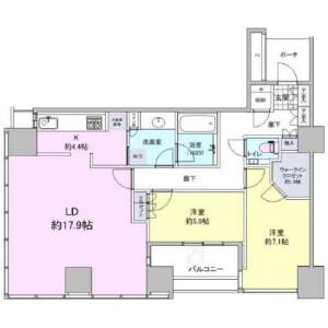 2LDK {building type} in Konan - Minato-ku Floorplan