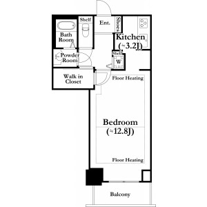 1K Mansion in Kawadacho - Shinjuku-ku Floorplan