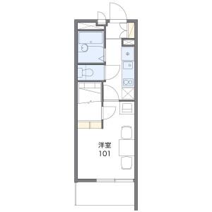 1K Mansion in Kizawa - Toda-shi Floorplan