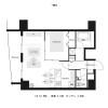 1LDK Apartment to Rent in Osaka-shi Kita-ku Floorplan