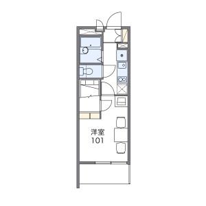 1K Mansion in Ikenomiya - Hirakata-shi Floorplan