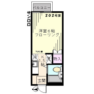 1K Apartment in Manganji - Hino-shi Floorplan