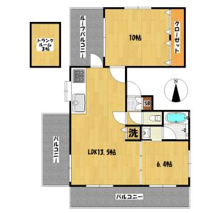 1SLDK Mansion in Himonya - Meguro-ku Floorplan