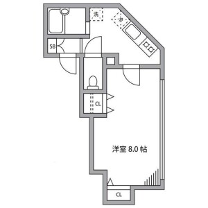 1K Mansion in Honamanuma - Suginami-ku Floorplan