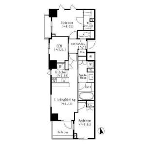 2LDK Apartment in Hatsudai - Shibuya-ku Floorplan