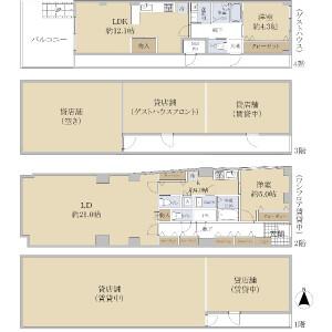 Whole Building {building type} in Giommachi kitagawa - Kyoto-shi Higashiyama-ku Floorplan