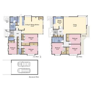 6LDK {building type} in Shimoma - Setagaya-ku Floorplan