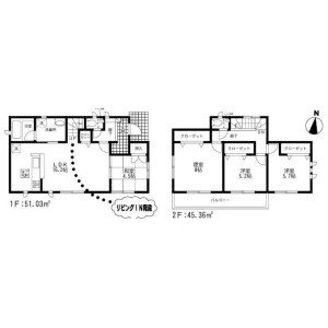 4LDK House in Doi - Fukuoka-shi Higashi-ku Floorplan