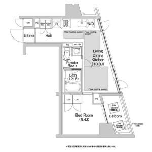 1LDK Apartment in Shibuya - Shibuya-ku Floorplan