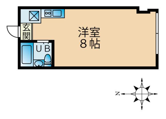 1R Apartment to Rent in Toshima-ku Floorplan