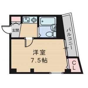 1K Mansion in Sugahara - Osaka-shi Higashiyodogawa-ku Floorplan