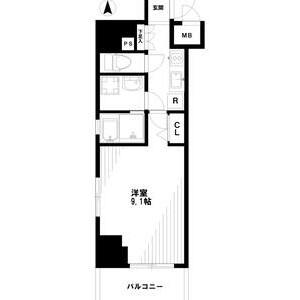 1K Mansion in Haramachi - Shinjuku-ku Floorplan