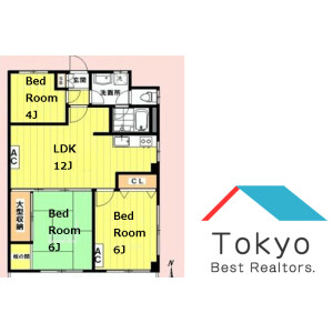 3LDK Mansion in Nakano - Nakano-ku Floorplan