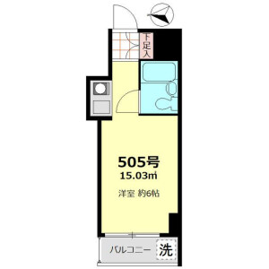 1R Mansion in Nishiasakusa - Taito-ku Floorplan