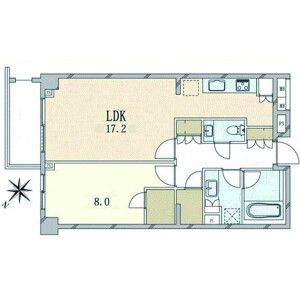 1LDK {building type} in Nampeidaicho - Shibuya-ku Floorplan
