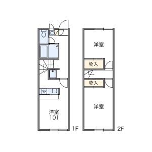 2DK Apartment in Oyuminochuo - Chiba-shi Midori-ku Floorplan