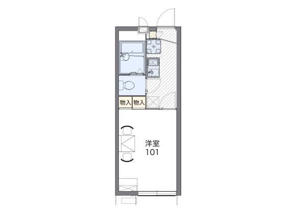 在川崎市宮前區內租賃1K 公寓 的房產 房間格局