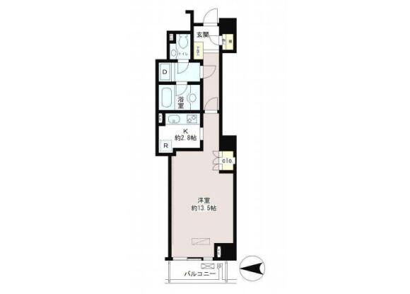 1K 맨션 to Rent in Shibuya-ku Floorplan