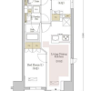 1SLDK Apartment to Rent in Chuo-ku Floorplan