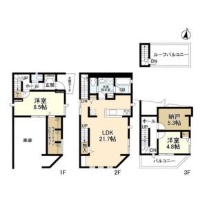 2LDK House in Kakinokizaka - Meguro-ku Floorplan