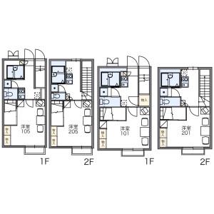 1K Apartment in Okubo - Narashino-shi Floorplan
