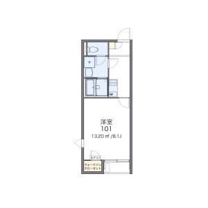 1K Apartment in Rokukakubashi - Yokohama-shi Kanagawa-ku Floorplan
