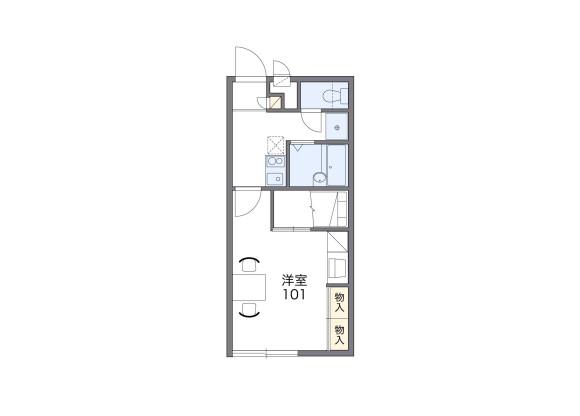 1K Apartment to Rent in Chita-gun Taketoyo-cho Floorplan